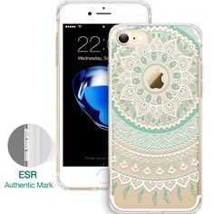 Case for iPhone 7 / 7 Plus , ESR Totem Henna Pattern One Piece Hybrid Case Soft TPU Hard Back Protective case for iPhone 7 7Plus