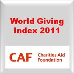 World Giving Index 2011   A link to the original report can be found here: https://www.cafonline.org/publications/2011-publications/world-giving-index-2011.aspx