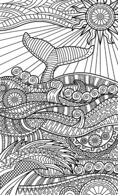 – Coloring Pages & Such - Malvorlagen Mandala Zentangle Drawings, Mandala Drawing, Doodle Drawings, Doodle Art, Zentangles, Doodle Patterns, Zentangle Patterns, Coloring Book Pages, Coloring Sheets