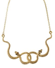 Golden Boa Necklace- makes me think of Orin from the Neverending story