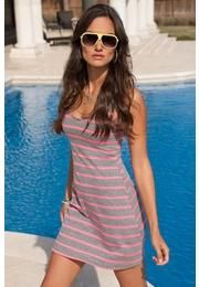 Body Central - NEON STRIPED RACERBACK TANK DRESS $19.90