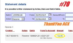 This is my ANOTHER Withdrawal Proof from Ad Click Xpress. I get paid daily and I withdraw daily. Online income is possible with ACX, who is definitely paying - no scam here. This program can be a life-changer for so many people. Good things happens every day with Ad Click Xpress. If you are a PASSIVE INCOME SEEKER, then Ad Click Xpress is the best ONLINE OPPORTUNITY for you. Join and increase your income with ACX, you'll like it. http://www.adclickxpress.com/?r=nina64&p=mx…