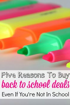 Back to school supplies provide amazing deals that anyone can benefit from. Here are 5 reasons why your family and your business needs to stock up now.
