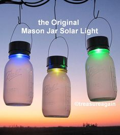 Rotating Color Mason Jar Solar Lantern by treasureagain  The ORIGINAL Mason Jar Solar Light http://etsy.me/VgqWMM