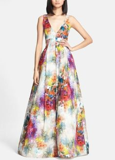 This Alice + Olivia floral ballgown is spectacular.