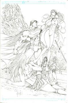 Superman Batman 10 pg 5 Michael Turner - W.B