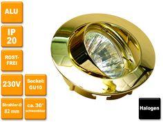 230V Halogen-Einbauspot Celia in 4 verschiedenen Farben lieferbar, wahlweise mit oder ohne Leuchtmittel. Rostfrei!