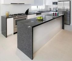 pictures of granite countertops in kitchens | Steel Grey Granite for  Elegant Kitchen | The Kitchen