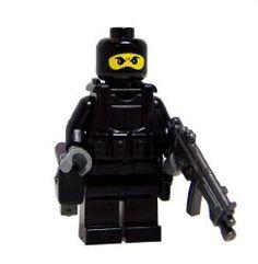 Black Navy Seal (Balaclava) - miniBIGS Custom Minifigure. $15 USD.