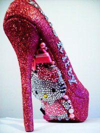 <3<3hello kitty bling bling shoe<3<3 @jen Puebla Alfaro