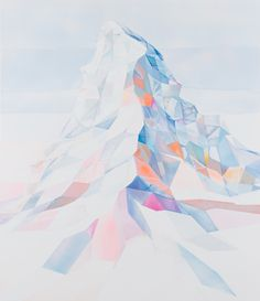 Colourful and slightly abstract geometrical landscapes by German artist Torben Giehler. See more images from Giehler's Mountainscapes Art And Illustration, Geometric Mountain, Polygon Art, Guache, Mountain Art, Mountain Paintings, Geometric Art, Geometric Painting, Landscape Art