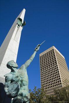 Air Force Monument, Downtown Oklahoma City, Oklahoma.