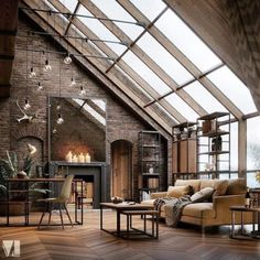 The concept of Industrial home design is very much in nowadays. Such a design not only makes your home look attractive but also enhances its beauty in each and every aspect. The Industrial home design Industrial Interior Design, Industrial House, Industrial Interiors, Home Interior Design, Industrial Style, Ikea Interior, Industrial Loft Apartment, Studio Interior, Vintage Industrial Decor