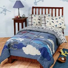 Kids' Comforters - Disney Vintage Mickey Plane Crazy Twin Bedding Comforter *** To view further for this item, visit the image link. Twin Comforter, Bedding Sets, Dark Bedding, Queen Bedding, Bedroom Themes, Bedroom Decor, Kids Bedroom, Bedding Decor, Boho Bedding