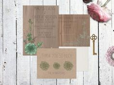 Eco-Friendly Succulent Wedding Invitations | Green Bride Guide