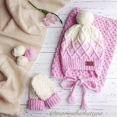 Купить Нежный зефирный комплект с градиентом - молочный, молочный цвет, розовый, нежно-розовый