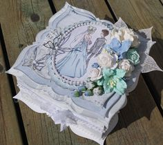 Mitt Lille Papirverksted: Bryllup i Romatisk stil... How To Make Box, 3d Projects, Scrapbooking, Decorative Boxes, Creations, Paper Crafts, Paper Boxes, Tutorials, Wedding