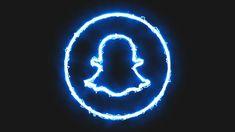 Iphone Wallpaper Logo, Iphone Logo, Iphone Wallpaper Tumblr Aesthetic, Iphone Icon, Blue Aesthetic Tumblr, Blue Aesthetic Dark, Neon Aesthetic, Snapchat Logo, Snapchat Icon