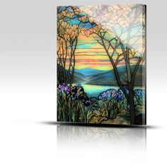 louis comfort tiffany posters | ... Acrylic PlexiPics › Magnolias & Irises – Louis Comfort Tiffany