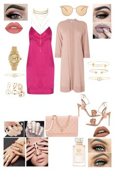 """🌸🌺🌸"" by heirymarmol on Polyvore featuring Michael Lo Sordo, Aquazzura, L.K.Bennett, Chanel, Tiger Mist, Charlotte Russe, Fragments, Rolex, Gucci and Delfina Delettrez"