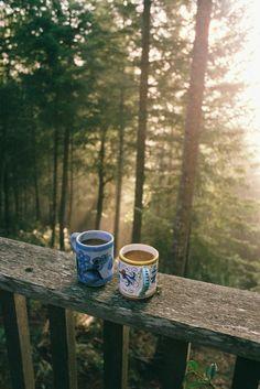 cabin mornings