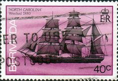 Bermuda 1986 Ship Wrecked in Bermuda SG 515 Fine Used SG 515 Scott 490 Other British Commonwealth Empire and Colonial stamps Here