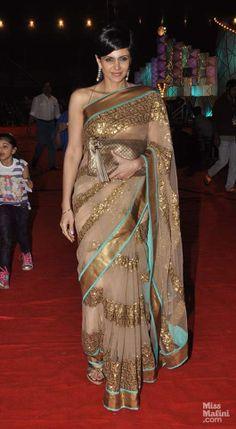 Mandira Bedi is wearing her own or is it a Manish Malhotra?