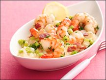 Hungry Girl - Shrimp N Grits. 2 servings 320 calories. Made it tonight and it was YUMMY!!!!