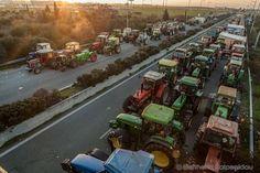 Το μπλόκο των αγροτών στη Νίκαια Λάρισας