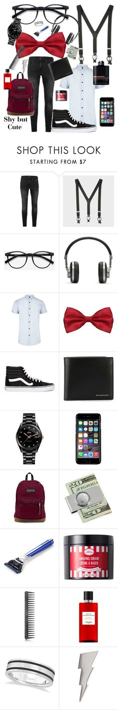 """Shy but Cute"" by chelseax-x ❤ liked on Polyvore featuring Topman, Paul Smith, Master & Dynamic, River Island, Vans, Burberry, Rado, Off-White, JanSport and Prada"