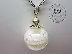 Halskette - Echte Feder - silbern von Mademoiselle Claire - Nostalgieschmuck auf DaWanda.com