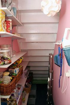 under stairs pantry. Ask architect what is under the stairs? Use that space (secret room... crawl in?:
