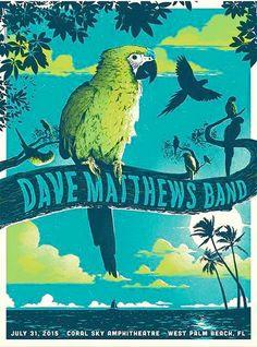 Dave Matthews Band Poster- Coral Sky Amphitheatre - West Palm Beach - July 31, 2015