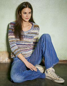 Lana Grossa V-PULLI MIT PERLMUSTERBLENDEN Lei Color Mix - RAGAZZA No. 6 - Modell 30 | FILATI.cc WebShop