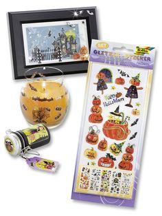 Neue Glitzer-Sticker im Halloween-Look für gruseligen Bastelspaß. Mehr auf www.folia.de