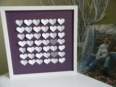 Wedding guest book alternative 3D paper hearts by PrettyProposal