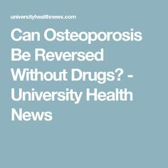 "Can osteoporosis be reversed without drugs? The answer is ""yes!"" But only if you use a very comprehensive treatment plan. Osteoporosis Exercises, Getting Rid Of Mucus, Bone Strength, Acidic Foods, Bone Loss, Bone Density, Bone And Joint, Best Protein"