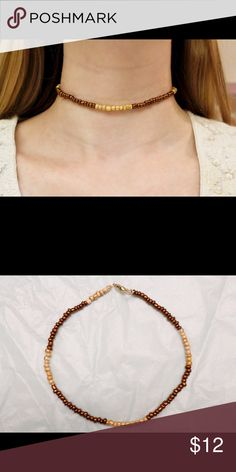Bronze and Gold Beaded Choker Very cute and unique beaded bronze and gold choker. Stretchy material so ideal for most neck sizes. I have more available so bundle and save! Great gift for the Holidays! Shipping is included in price. Jewelry Necklaces