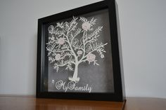 Family tree paper cut