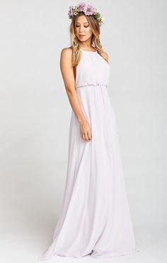 Amanda Maxi Dress Light Lavender Chiffon Dresses
