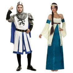 Pareja Medievales Azules #parejas #disfraces #carnaval  #novedades2015
