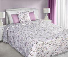 Beautiful Rose prehoz na posteľ v bielo ružovej farbe