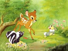 Wallpaper of Bambi for fans of Classic Disney. sweet little bambi Bambi Disney, Walt Disney, Cute Disney, Disney Cartoons, Disney Movies, Disney Pixar, Flower Wallpaper, Disney Wallpaper, Hd Wallpaper