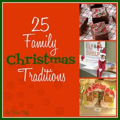 25 Family Christmas Traditions Between family parties and our usual festivities, the month seems to fly by! Here are 25 Christmas traditions to help spread a little holiday cheer! Merry Little Christmas, Family Christmas, All Things Christmas, Winter Christmas, Christmas Time, Christmas Baking, Christmas Activities, Christmas Crafts, Christmas Decorations