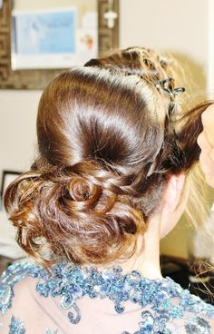 Wedding inspired hair style for prom.