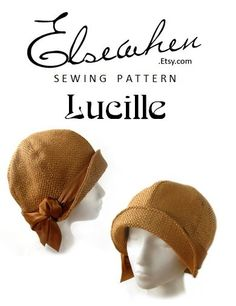 SEWING PATTERN Lucille 1920s Cloche Hat for by ElsewhenMillinery $15 many varieties