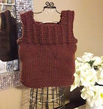 This little vest is sure to keep a little one warm. I read that these are good to use over a sleeper to keep their core temperature up. Knits, Trees, Vest, Babies, Knitting, Fashion, Moda, Babys, Tricot