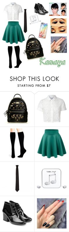 """Kanaya's SchoolStuck c:"" by jeanie-beanie ❤ liked on Polyvore featuring Glamorous, Hue, CO, Happy Plugs, Robert Clergerie and Forever 21"