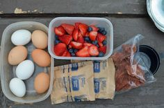 Camping meals. Healthier options. Not that I mind ramen and walking tacos, but...