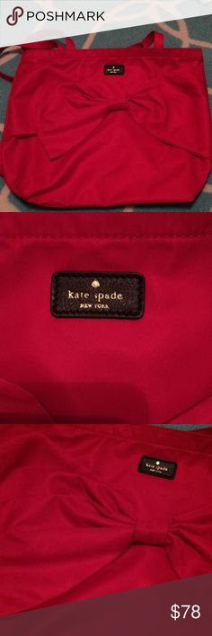 Kate spade cherry tote with bow Brand new Given as gift kate spade Bags Totes